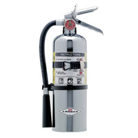 Amerex® 5 lb ABC Chrome Extinguisher w/ Vehicle/Marine Bracket - 00TC