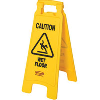 """WET FLOOR"" Safety Sign - 611277YL"