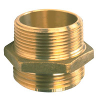 Male x Male Brass Hexagon Nipple - 731