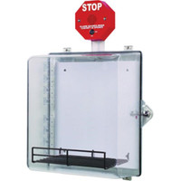 AED Cabinet w/ Stop Sign Alarm - 7533LFA