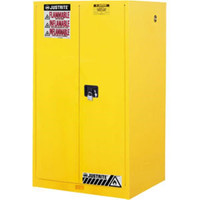 "Sure-Grip® EX Safety Cabinet w/ Manual Doors, 60 gal, 65""H x 34""W x 34""D - 896000"