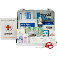 25-Person, 89-Pc ANSI A Weatherproof First Aid Kit, Metal - 90560