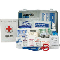 25-Person, 141-Pc ANSI A+ Weatherproof First Aid Kit, Metal - 90561