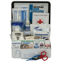 50-Person, 183-Pc ANSI A+ Weatherproof First Aid Kit, Metal - 90564