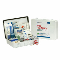 50-Person, 199-Pc ANSI B Weatherproof First Aid Kit, Metal - 90567