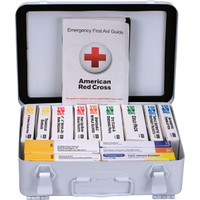25-Person, 16-Unit ANSI A Weatherproof First Aid Kit, Metal - 90568