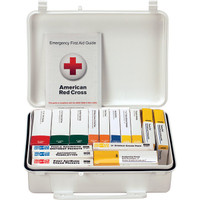 25-Person, 16-Unit ANSI A Weatherproof First Aid Kit, Plastic - 90569