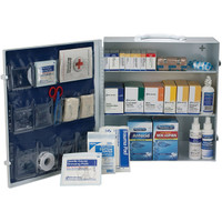 3-Shelf, 100-Person, 658-Pc ANSI A+ First Aid Station - 90574