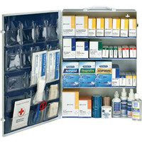 4-Shelf, 150-Person, 1436-Pc ANSI B+ First Aid Station - 90576