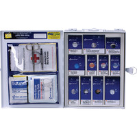 25-Person, 94-Pc ANSI A Medium SmartCompliance First Aid Cabinet w/o Medication, Metal - 90578