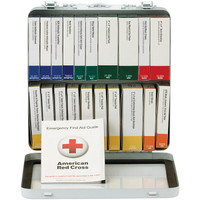 50-Person, 24-Unit ANSI A+ Weatherproof First Aid Kit, Metal - 90600