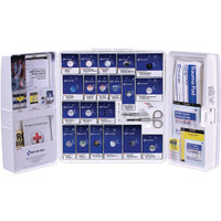 50-Person, 221-Pc ANSI A+ Large SmartCompliance First Aid Cabinet w/ Medications, Plastic - 90608