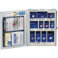 25-Person, 94-Pc ANSI A Medium SmartCompliance Food Service First Aid Cabinet w/o Medications, Metal - 90658