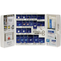 50-Person, 224-Pc ANSI A+ Large SmartCompliance Food Service First Aid Cabinet, Plastic - 90659
