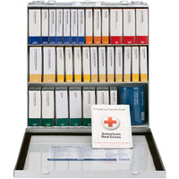 25-Person, 182-Pc ANSI A+ Contractor First Aid Kit, Metal - 90670