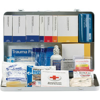 50-Person, 254-Pc ANSI A+ Weatherproof Contractor First Aid Kit, Metal - 90671