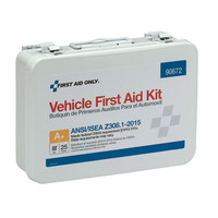 25-Person, 116-Pc ANSI A+ Weatherproof Vehicle First Aid Kit, Metal - 90672