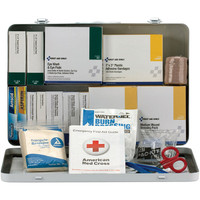 50-Person, 276-Pc ANSI A+ Weatherproof Vehicle First Aid Kit, Metal - 90673