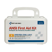10-Person, Bulk ANSI A Weatherproof First Aid Kit, Plastic - 90754