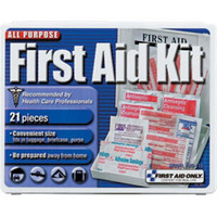 21-Piece Travel First Aid Kit (Plastic Case) - FAO110