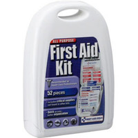 52-Piece All-Purpose First Aid Kit (Plastic Case) - FAO122