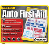 28-Piece Auto First Aid Kit (Plastic Case) - FAO310