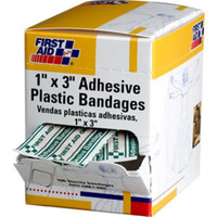 "Plastic Bandages, 1"" x 3"", 100/Box - G106"