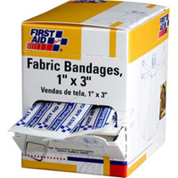 "Fabric Bandages, 1"" x 3"", 50/Box - G121"