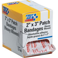 "Heavy Woven Patch Bandage, 2"" x 3"", 25/Box - G160"