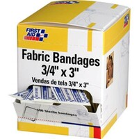 "Fabric Bandages, 3/4"" x 3"", 100/Box - H119"