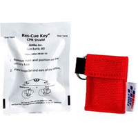 Ambu® Res-Cue Key CPR Face Shield w/ 1-Way Valve & Red Nylon Pouch - M5092