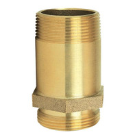 "Pin Rack Nipple, 1 1/2"" NPT x NST, Brass - N311"