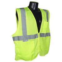 Radians Class 2 Vest Green Mesh w/ Zipper - SV2ZGM