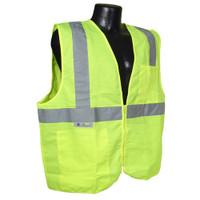 Radians Class 2 Vest Green Solid w/ Zipper - SV2ZGS