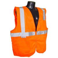 Radians Class 2 Vest Orange Solid w/ Zipper - SV2ZOS