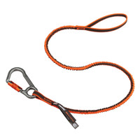 Ergodyne Squids 3108F(x) Standard Orange Tool Lanyard Single Locking Carabiner - 15lbs