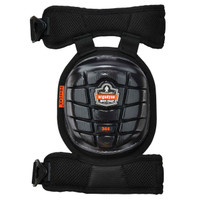 Ergodyne ProFlex 344  Black Short Cap Injected Gel Knee Pad w/ Comfort Straps