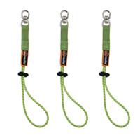 Ergodyne Squids 3713-BULK Standard Lime Elastic Loop Tool Tails Swivel - 10lbs 60-Pack