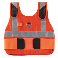 Ergodyne Chill-Its 6215 L/XL Orange Phase Change Cooling Vest & Pack