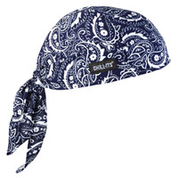 Ergodyne Chill-Its 6615  Navy Western High-Performance Dew Rag