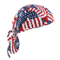 Ergodyne Chill-Its 6615  Stars & Stripes High-Performance Dew Rag