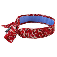 Ergodyne Chill-Its 6700CT  Red Western Evap. Cooling Bandana w/CT - Tie