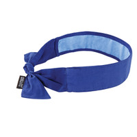 Ergodyne Chill-Its 6700CT  Solid Blue Evap. Cooling Bandana w/CT - Tie