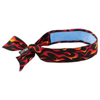 Ergodyne Chill-Its 6700CT  Flames Evap. Cooling Bandana w/CT - Tie