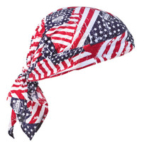 Ergodyne Chill-Its 6710  Stars & Stripes Evaporative Cooling Triangle Hat