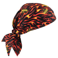 Ergodyne Chill-Its 6710CT  Flames Evap. Cooling Triangle Hat w/CT