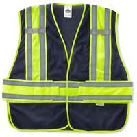 Ergodyne GloWear 8240HL-NC M/L Navy Non-Certified Two-Tone Expandable Vest