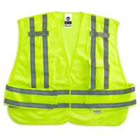 Ergodyne GloWear 8244PSV M/L Lime Type P Class 2 Expandable Public Safety Vest