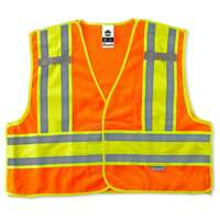 Ergodyne GloWear 8245PSV L/XL Orange Type P Class 2 Public Safety Vest
