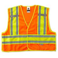 Ergodyne GloWear 8245PSV 6XL/7XL Orange Type P Class 2 Public Safety Vest
